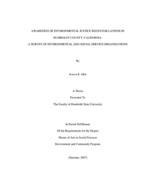 latino issues thesis