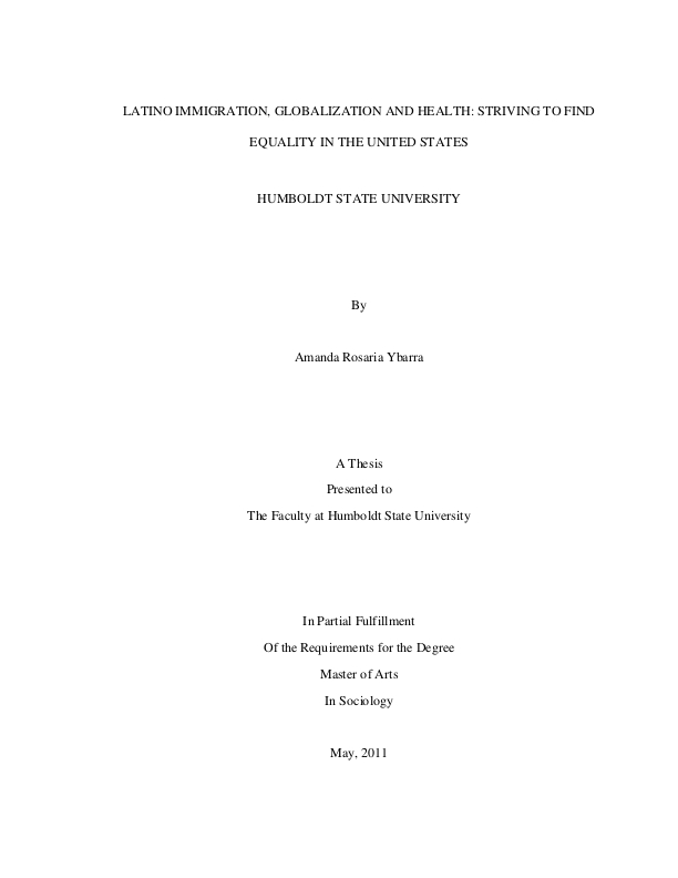 Latino issues thesis blank resume formats for freshers